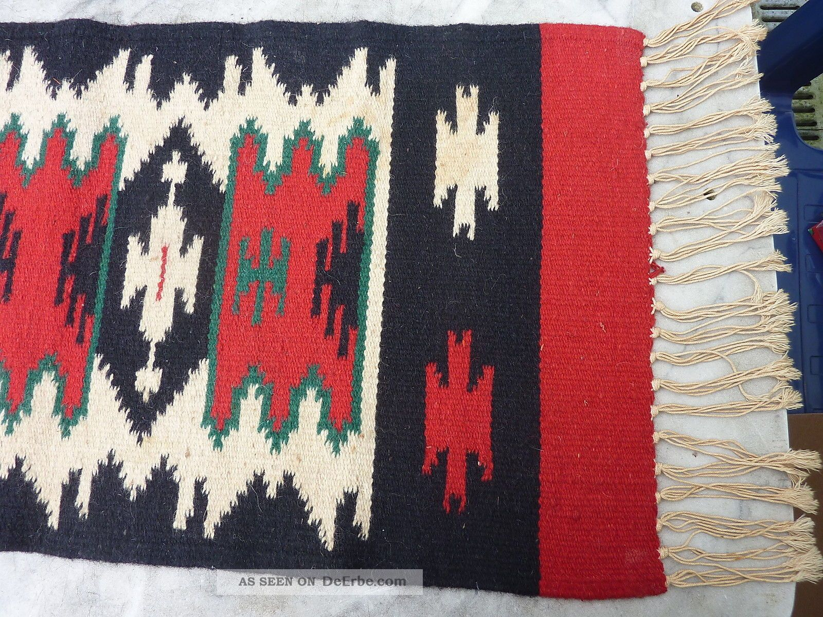 orient teppich l ufer br cke wandteppich kelim wolle gewebt ca 37 x 78 cm rot. Black Bedroom Furniture Sets. Home Design Ideas