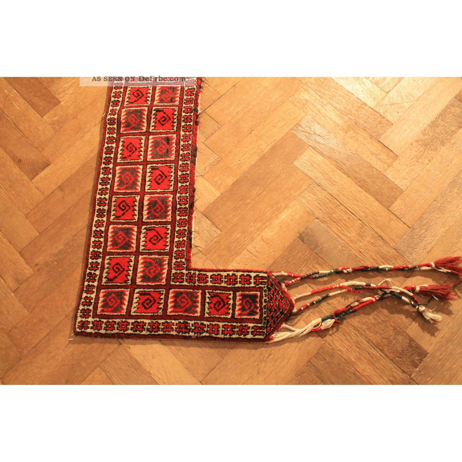 Antik Alter Handgeknüpfter Teppich Afghan Wand Behang Zelt