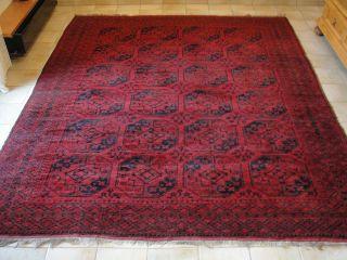 Turkmenischer Teppich Afghan 335 X 274 Ca.  70 J.  Alt Bild