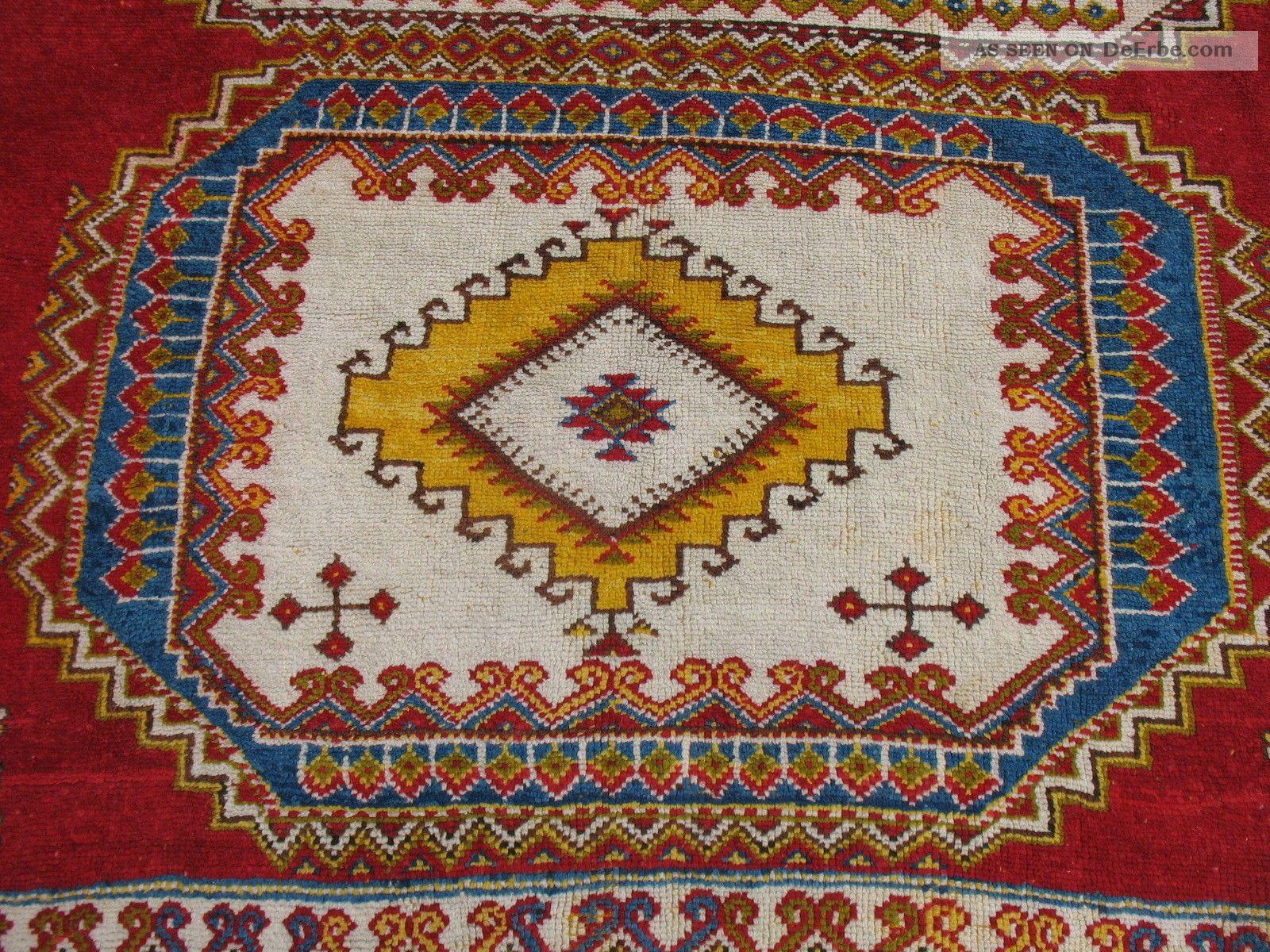 Antiker Atlas Teppich Aus Marokko, Sehr Seltenes Muster C