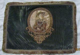 Originales Tischtuch Mit Stickereien Zu Ehren Der Kaiserin Maria Blanca 17 Jhdrt Bild