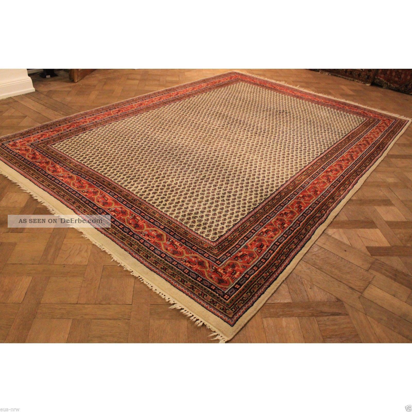 wundersch ner handgekn pfter orient palast blumen teppich 350x250cm rug carpet. Black Bedroom Furniture Sets. Home Design Ideas