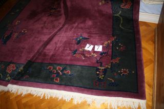 Chinesischer Teppich,  352 X 272,  Alt Bis Antik Bild