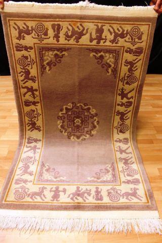 Schöner Art Deco China Teppich 160x92 Cm 3201 Tappeto Rug Carpet Kaschmir Bild