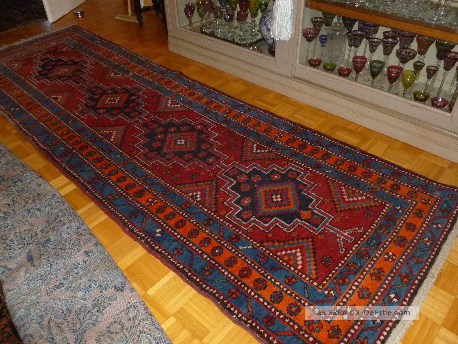 persische teppich l ufer 340cm x 105cm alt semi. Black Bedroom Furniture Sets. Home Design Ideas
