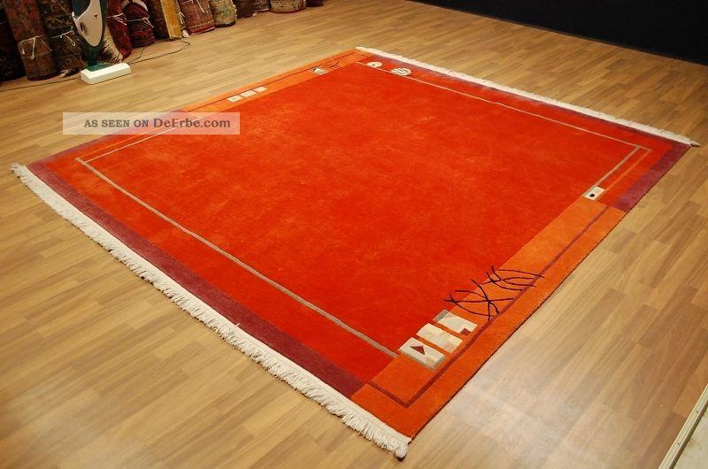 Art Deko Tibet Teppich Tappeto Rug Ca 250x250cm