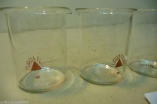7207.  4 Stck.  Alte Laborgläser Apotheker Glas Bild