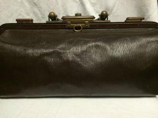 Alte Arzttasche Hebammentasche Tasche Leder Um 1900 Apotheker Doktor Bild