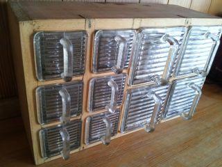 Sehr Schönes Regal Glas Küchen Schütten Für Tee Oder Gewürtze (alt) Bild