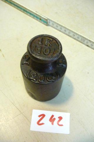 Nr.  242.  Alte Gewicht 1 Kg Old Weight Bild