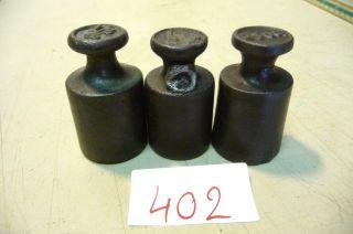 Nr.  402.  Alte Gewichte 3 X 250 Gr.  Old Weights Bild