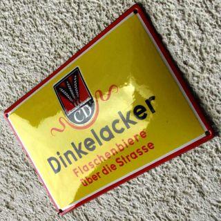 Dinkelacker Stuttgart Antikes Emailschild Um 1930 Makellos Bier Brauerei RaritÄt Bild