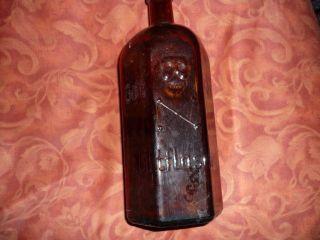 Giftflasche Braun 1 Liter Totenkopf Gift Flasche Poison Bild