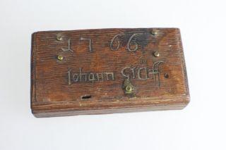 Antiker Seltener Uralte Gewichte Kasten Mit Gewichte Aus 1766 Datiert Johann Grä Bild