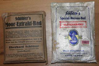 Schlüters Moor - Extrakt - Bad (vor 1945) Und Nerven - Bad Apotheke Drogerie Badezusa Bild