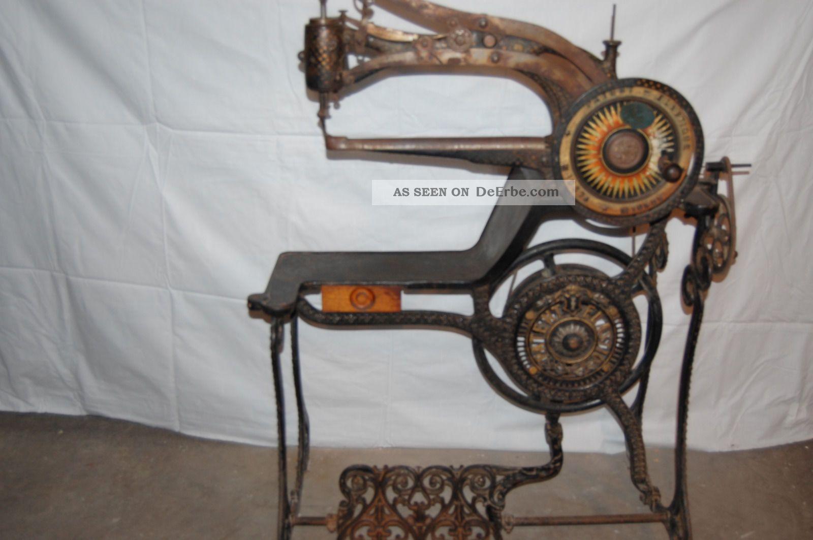 antike schustern hmaschine um 1880 n hmaschine. Black Bedroom Furniture Sets. Home Design Ideas