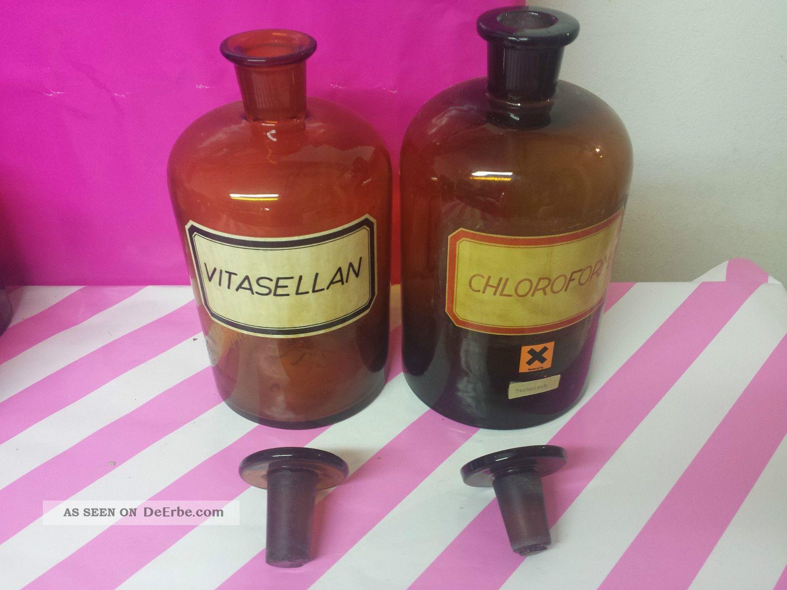 2 Apotheker Flaschen Apotheker Gefasse Laborflaschen Deko Oder