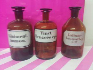 3 Apotheker Flaschen Apotheker Gefäße,  Laborflaschen Deko Oder Shabby 1000 Ml Bild