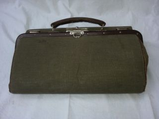 Hebammenkoffer,  Arzttasche,  Arztkoffer,  Hebammentasche,  Leinentasche Vintage Bild