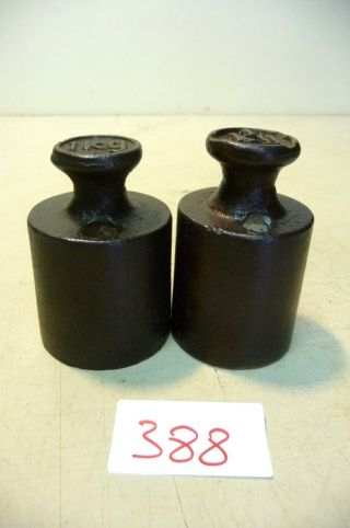 Nr.  388.  Alte Gewichte 2 X 1 Kg Old Weights Bild