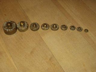 Alte Apotheker - Gewichte1 Gramm - 100 Gramm Ab 1912 Geeicht Bild