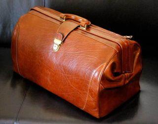 Große Arzttasche - Ledertasche - Reisetasche - Unbenutzt Bild