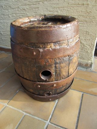 Schönes Altes Eichen - Bierfass Holzfass Fass Geeicht Mit 23,  5 L Bild