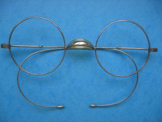 Alte Brille Antik Nickelbrille Alt Spectacles Old Eyeglasses Optiker Optical Bild