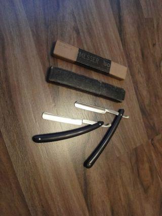 2 Rasiermesser Mit Schachteln - Solingen Henckels Straight Razor Rasoir Navaja Bild