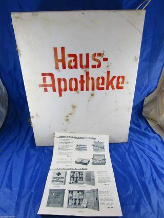 Konvolut Hausapotheke Metall - Schrank,  Reklame Luftschutz Apotheke Um 1935 Bild