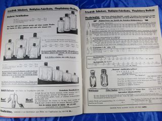 Reklame Katalog Preisliste F.  Schubert Hohl - Glas Fabrik Magdeburg 1934 Bild