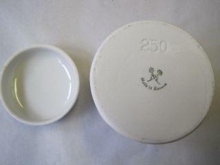 Apotheker - Dosen/behälter Aufbewahrung Rösler Porzellan Ungt.  Zinci 250 Ml Bild