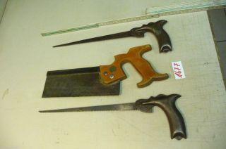 Nr.  1677.  3.  Alte Sägen Werkzeuge Werkstatt Säge Handsägen Bild