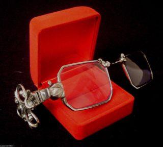 Art Deco Lorgnette System - Klappbar Zweit - Brille Ca.  2,  5 Dioptrin Bild