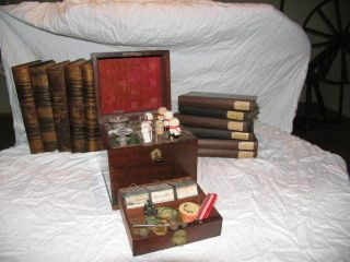 Engl.  Schiffsapotheke Reiseapotheke Um 1850 Bild