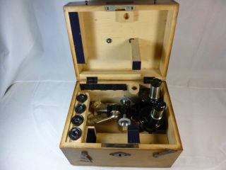 Altes Hornhaut Mikroskop Carl Zeiss Jena Im Originalen Holzkasten Bild