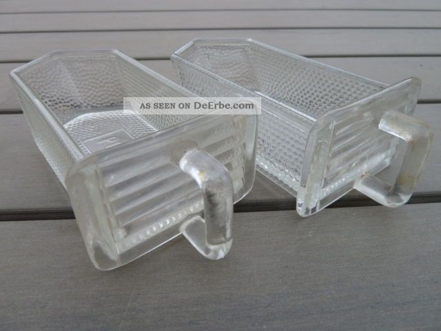 Alte Glasschütten - Glasschütte Glas Schütte - 2 Stück - Poncet Kaufleute & Krämer Bild