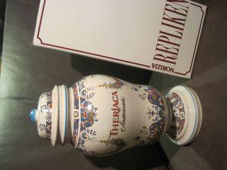 Apotheker Deckelgefäß Ulmer Keramik Theriaca 35cm Dekoration Selten Ovp Bild