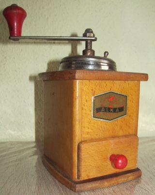 Alte Kaffemühle Mit Handkurbel Ca 1920 Jh.  Sammlerstück Antik Bild