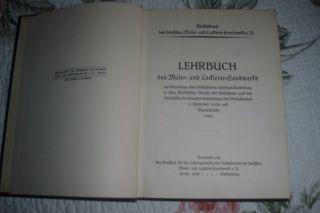 Aus Nachlass,  Lehrbuch,  Maler,  Lackierer,  Handwerk,  Reichsbund,  Rarität,  1926 Bild