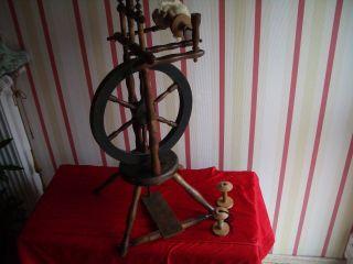 Antikes Spinnrad,  Holzspinnrad Um 1900 - Sammler Stück Bild