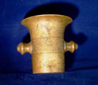 Alter Bronze Mörser Glockenguß 11,  5 Cm Hoch 11,  5cm Durchmesser Bild