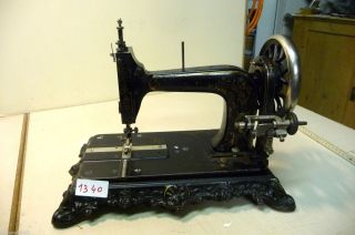 Nr.  1340.  Alte Nähmaschine Rossmann Old Sewing Machine Bild