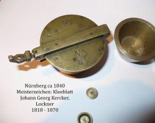 Apotheker - Bechergewichte,  Bayerisches Pfund,  9 Teilig,  Ca 1835 Bild