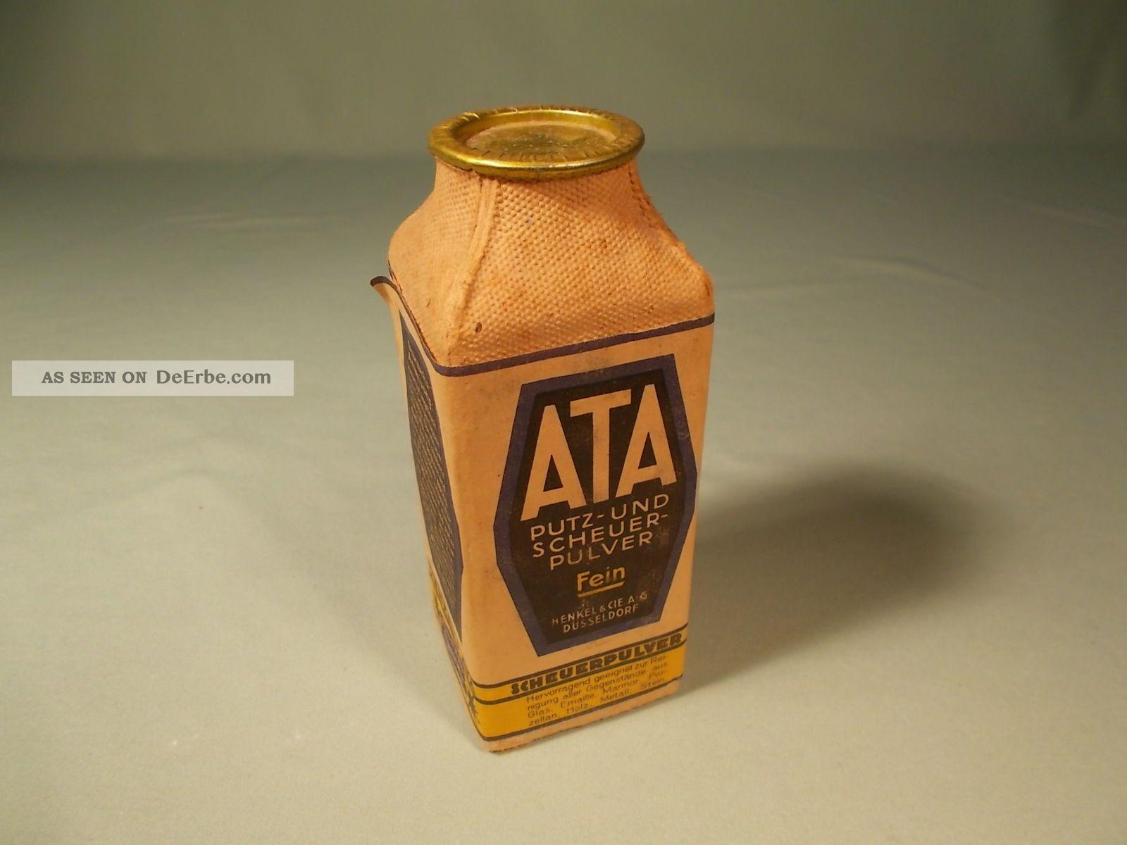 Altes Päckchen Ata Von Henkel DÜsseldorf Mit Inhalt In Ovp Vor 1940 Kaufleute & Krämer Bild