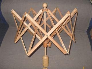 Holz Weife Haspel Wolle Spulen Spinnen Weben Wickel Mit Tisch Schraubzwinge Bild