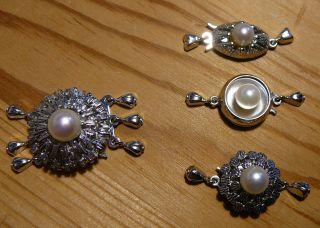 4 Stück Sicherheitsverschlüsse Gold Mit Perle (585 333),  Extravagant Und Edel Bild