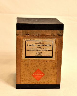 Carbo Medicinalis E.  Merck Aktivkohle Schachtel Karton Packung Mit Inhalt 1 Kg Bild