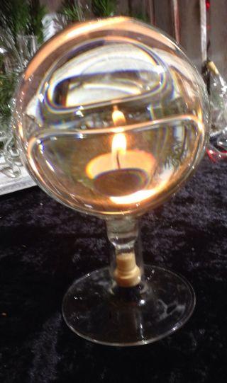 Glaskugel Schusterkugel Wasserkugel Lupe Messing Magie Sternzeichen Magie Licht Bild