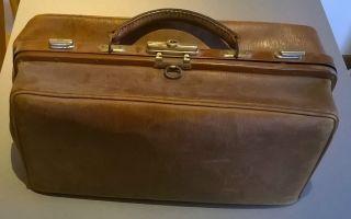 Antike Hebammentasche Aus Leder Arzt Tasche Alt Arzttasche Ledertasche Bild